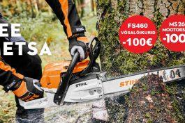 Tee metsa! Stihli mootorsaed ja võsalõikurid 100€ soodsamalt