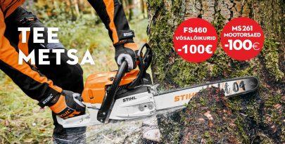 Tee metsa! Stihli mootorsaed ja võsalõikurid 100€ soodsamalt…